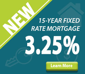 New 15-Year Fixed Rate Mortgage at 3.25%