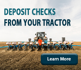 Deposit checks from your tractor. Learn more